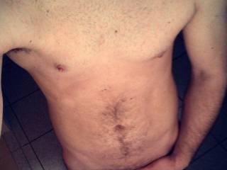 Just a naked selfie after showering... Enjoy ;)