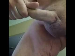 Gosh so exciting watching you stroke that gorgeous cock to a hot load!