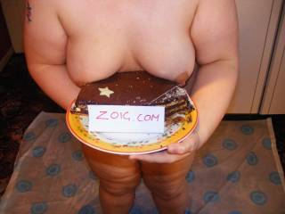 sexy boobs look better than the chocolate cake