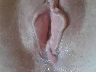 She wanted my cock hard and deep in her after I licked and sucked her to a huge orgasm and so of course that's what she got.  She always gets what she wants!  Anyone like to clean her up?  Lick both of our cum off that sweet pussy and ass?