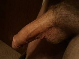 My cock, hastily photographed at customers in the hallway when I was about to leave after a business visit. My God, the wife of the customer was so fucking horny I could fuck her on the spot, but I had to hold back, unfortunately.