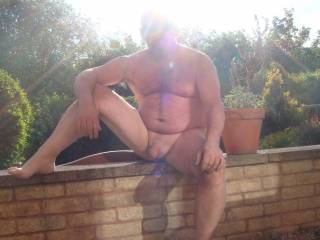 Naked in the back yard