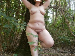 Yesssssss, that's me naked watching wildly horny walking up with the huge woodie, what will you do...?