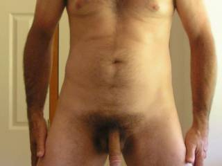 With my foreskin pulled back