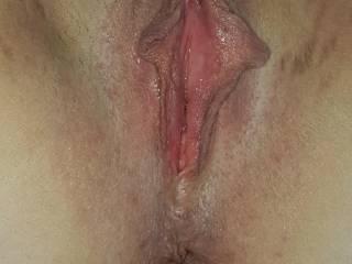 Nadja\'s horny holes, freshly shaven and ready to be fucked and inseminated.