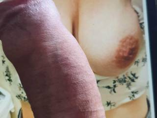 Sharna asked me to tribute, and I finally got some time to play!  She has amazing tits, I am sure you will agree!