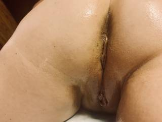 Hot wife oiled up ready to go. It was a good night