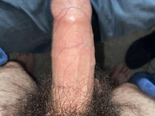 Fresh out the bath and took a pic of my hard thick chunky dick