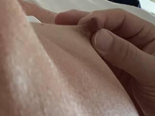 I love my wife's big suckable nipples, they get so hard!
