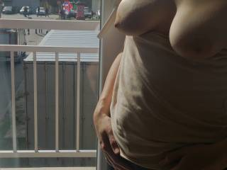 """Sun """"kissed"""" tits are always the breast!  I love the light and shadows, so sexy and erotic."""
