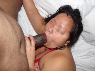 she is a true COCK goobler.. love to make that pop sound.. that drive me wild