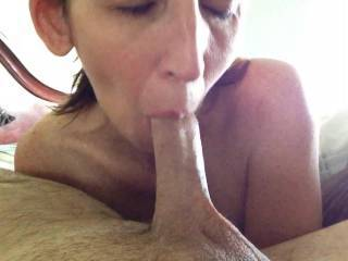 """Wife slowly sucking on the tip of my dick. It felt amazing. Looking for another couple or local with an 8+"""" dick for her to play with. Can anyone make this dream a reality?"""