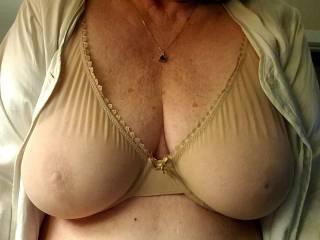 see-thru bra feels really good