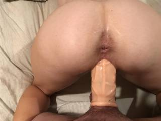 Blonde bimbo housewife taking a huge cock extension