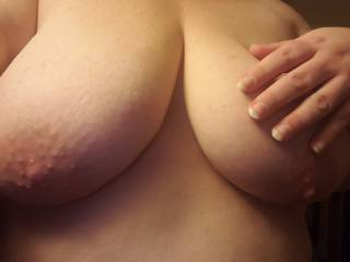 I love having my nipples sucked and nibbled on