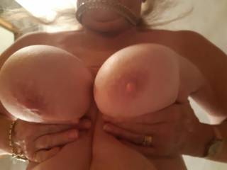 Dangling those big titties in my face.