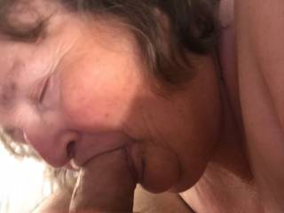 She gave a really wet slutty blow job. My balls were soaked by the time I filled her mouth with cum.