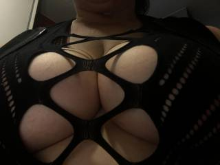 I'm harnessed and ready to go out and have some naughty fun