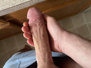 My huge white cock