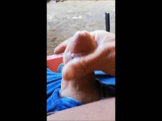 Sitting out in the yard Masturbating, I hope you enjoy my thick strings of cum, who\'d like to have their mouth of my cock swallowing?