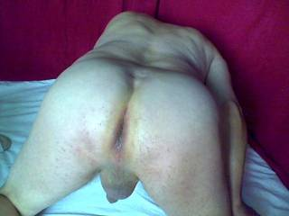 nice ass! love to slide my big cock inside you and fuck you long and hard!