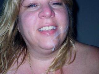 what a beautiful face rudely covered in cum mmm heavenly