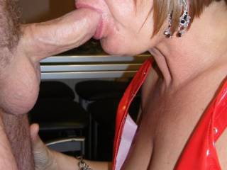 Oooooh! babe! love to see n feel your lush lips wrapped around my thick hung cock! love to cum all over your sexu wet mouth & gorgeous tits! xxxx.