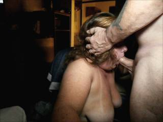 Wife on her knees sucking a guy she met at a swingers meet and greet in a local hotel.  Met him, had a couple of drinks and was sucking and fucking him 2 hours later.