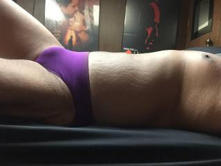 purple panties bulge