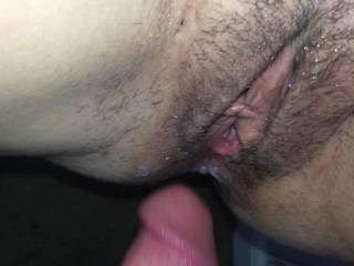 Mmm.  The feeling of sliding in and out of a nice pussy makes me wanna cum so good. Do you ladies like the in and out style.   It\'s great when you cum all over my cock as I slide in and out real slow