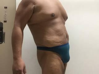 Green thong YMCA swim