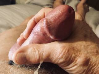 Love to feel the jizz spurt out of my cock and run down my hand.