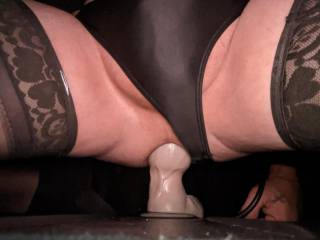 My favorite dildo. I pump it up till my ass is so stretched open and ride the fuck out of it. Only thing better is a nice thick cock   wish I had a couple of thick cocks right now.
