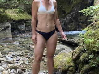 Her sexy body in a bikini!! Dam its so fun watching her turn guys on at the beach!!