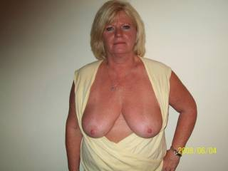 I love those nice big natural tits. I would suck and play with them all night. Oh and don't forget that pretty pussy. I've got plenty of hot seed for that sweet thing
