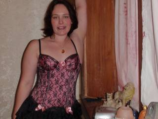 me in pink corset