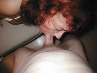 Slave loves serving her master. Practice has made her an exceptional cocksucker, and he loves it.