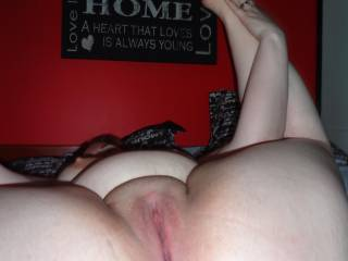 You play with her ass while i give her pussy a good licking and sucking!!!