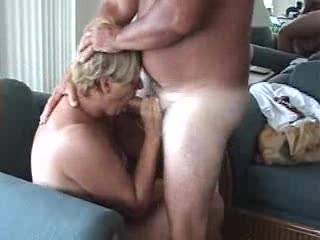 Final part as wife sucks a cock with cumshot all over her tits