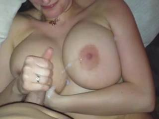 how many men begged you to let them cum all over those gorgeous big tits before you realized you started loving it? mmm god would love to watch this huge dick blast a messy cumshot all over those beautiful breasts