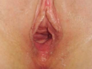 my wife has a very tight pussy but after I fuck her hard her pussy will  finally loosen up but she has a snapping pussy so I have to be quick to get gape pics since seconds after taking this her pussy is back closed , lol.
