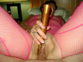 Love to !! I have long fantasized of join a couple as they play. You both look like it would be great fun for all!!