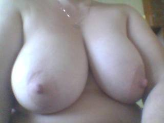 I would love to grab and squeeze your big adorable tits before I eat them...!!!
