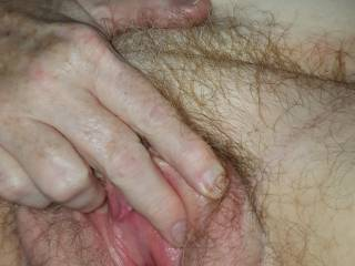 My GF, the Lovely Ms. P fingering her hot pussy.
