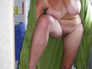 mmmm, id love to help dry you off.... Caressing your hot body all over....   Is that before or after i cum and seduce you?? xxxx