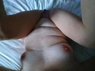A look at my shy girlfriend's mature body!