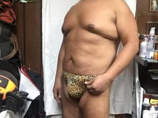 cheetah bikini bulge full body