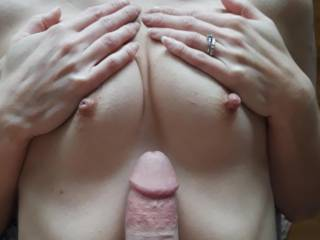 Hmmm.  Should I tit fuck those sexy little tits?  What do you think?