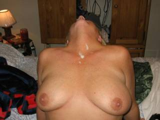 Very hot. I need to slide my hard cock between your lovely breasts.