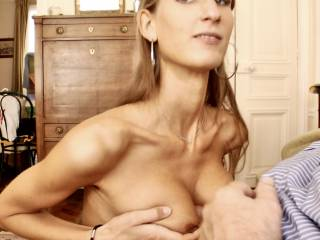 Met this tall 5'10 German girl in Paris on Craigslist.She'd never titty fucked before. Thought it was weird at first, but enjoyed it when she saw my face. Liked looking in the camera so you all know she wants you watching her.